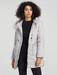 cheap -Women's Padded Coat,Casual Daily Solid-Cotton Others Cotton Long Sleeves