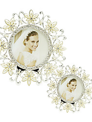 cheap -Modern Metal Hollow Alloy Photo Frame Fashion Shine Round Picture Frames Wedding Gift XL039-2