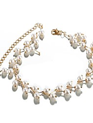 cheap -Women's Choker Necklace - Imitation Pearl Vintage, Fashion Gold, Silver Necklace For Party, Gift