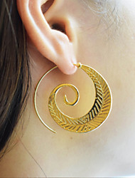 cheap -Women's Hoop Earrings , Vintage Casual Fashion Alloy Twist Circle Jewelry Party Gift Daily Evening Party Bar Street