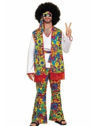 cheap -Hippie Costume Men's Masquerade RedYellow Vintage Cosplay Polyester Long Sleeves Bell Briefs