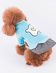 baratos -Cachorro Vestidos Roupas para Cães Casual Xadrez Vermelho Azul Rosa claro Ocasiões Especiais Para animais de estimação
