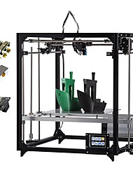 cheap -Flsun Square 3d Printer 3.2 Inch Touch Screen Double Extruder Wifi DIY 3D Printer Kit Auto Leveling Heated Bed With 2 Rolls Filament