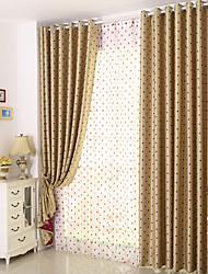 preiswerte -Schlaufen für Gardinenstange Ösen Schlaufen Zweifach gefaltet plissiert Window Treatment Kinder und Teenager, Jacquard Punkt Schlafzimmer