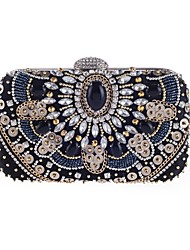cheap -Women's Bags Polyester Evening Bag Pearls for Wedding / Event / Party Black