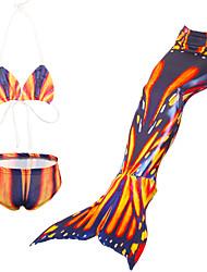 preiswerte -Mädchen Druck Cartoon Design Bademode, Nylon Orange Rosa Marineblau Purpur Gelb