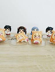 economico -action figure animate ispirate al modello himouto gaara pvc 6-8 cm giocattoli giocattolo bambola
