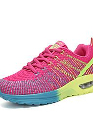 economico -Per donna Scarpe Tulle Primavera / Autunno Comoda scarpe da ginnastica Corsa Piatto Punta tonda Grigio / Viola / Fucsia