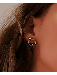 cheap -Women's Mismatch Star Stud Earrings - Mismatch Fashion Korean Moon Star For Daily Street