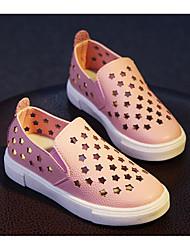 abordables -Fille Chaussures Polyuréthane Hiver Automne Confort Mocassins et Chaussons+D6148 pour Décontracté Blanc Noir Rose