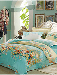 cheap -Yuxin® Lake Blue Color Duvet Cover Fashion Comfortable Flower Printed Full/Queen/King Size