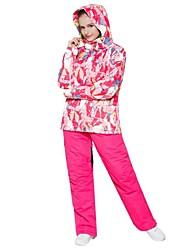abordables -Femme Veste de Ski Pare-vent, Chaud, Ventilation Ski / Multisport / Sports de neige Polyester Ensemble de Vêtements Tenue de Ski