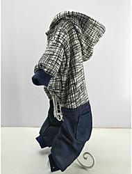 Недорогие -Кошка Собака Толстовки Комбинезоны Одежда для собак В полоску полоса Ткань Костюм Для домашних животных Стиль На каждый день Сохраняет