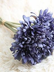 1 Větev Polyester Sedmikrásky Květina na stůl Umělé květiny