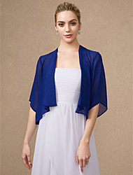 cheap -Half Sleeves Chiffon Wedding Party / Evening Women's Wrap Shrugs