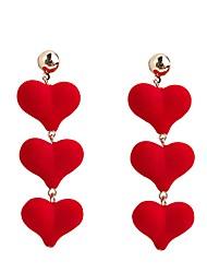 Недорогие -Жен. Длиные Серьги-слезки - Сердце европейский, Милая, Мода Черный / Красный Назначение Для вечеринок