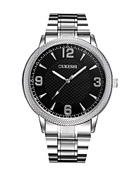 Pánské Módní hodinky Náramkové hodinky čínština Křemenný Hodinky na běžné nošení Nerez Kapela Minimalistické Stříbro