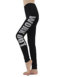 cheap -Women's Running Tights Stretchy Tights Pants / Trousers Yoga Running/Jogging Exercise & Fitness Rayon Tight Grey Blue Rose Red White L M