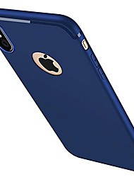 cheap -Case For Apple iPhone X iPhone 8 iPhone 6 iPhone 7 Plus iPhone 7 Frosted Back Cover Solid Color Soft Silicone for iPhone X iPhone 8 Plus