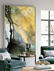 cheap -Abstract Oil Painting Wall Art,Alloy Material With Frame For Home Decoration Frame Art Kitchen Dining Room