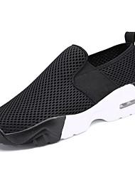 abordables -Femme Chaussures Gomme Printemps / Automne Confort Chaussures d'Athlétisme Marche Talon Plat Bout rond Bottine / Demi Botte Ruban Blanc /