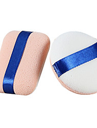 cheap -2 pcs Powder Puff Sponge Round Quadrate Women Face Natural Daily Makeup