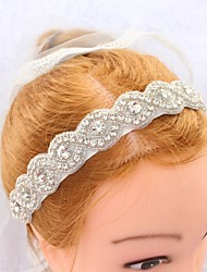 abordables -Polyester Casque with Strass 1pc Mariage Occasion spéciale Casque