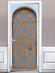 Недорогие -Архитектура Наклейки Простые наклейки Декоративные наклейки на стены,Винил Украшение дома Наклейка на стену Стена Окно