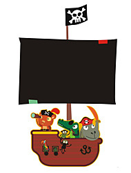 Недорогие -Школьная доска Мультипликация Наклейки Простые наклейки Декоративные наклейки на стены, Винил Украшение дома Наклейка на стену Стена Окно