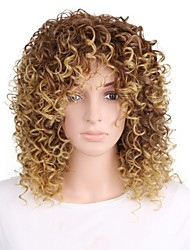 Synthetic Wig Short Kinky Curly Golden Blonde Party Wig Halloween Wig Cosplay Wig Natural Wigs Costume Wigs for Women