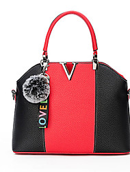 cheap -Women's Bags PU Shoulder Bag Zipper for Casual Office & Career All Seasons Green Black Red Blushing Pink Yellow