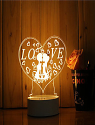 economico -1 set di 3d mood night light mano sensazione dimmerabile usb alimentato regalo romantico amore lampada
