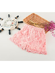 abordables -Short Fille Couleur Pleine Coton Polyester Printemps Eté simple Blanc Rose Claire