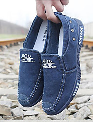 cheap -Men's Shoes Fabric Spring Summer Comfort Loafers & Slip-Ons for Casual Blue Gray