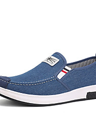 cheap -Men's Shoes PU Canvas Denim Fabric Spring Summer Comfort Light Soles Loafers & Slip-Ons Walking Shoes Stitching Lace for Casual Outdoor