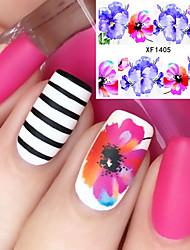cheap -1 Flower Nail Sticker Multi-Color Nail Art Design Decoration