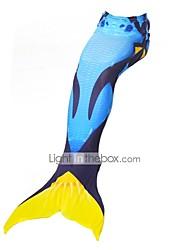 cheap -Mermaid Tail Skirt Kid Christmas Masquerade Festival / Holiday Halloween Costumes Blue Orange Fuschia Color Block