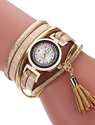 abordables -Mujer Reloj Casual Reloj de Moda Reloj Pulsera Chino Cuarzo La imitación de diamante PU Banda Casual Bohemio Borlas Blanco Rojo Marrón