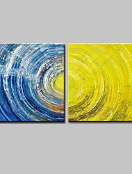 economico -Hang-Dipinto ad olio Dipinta a mano - Astratto Modern Tela