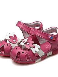 Недорогие -Девочки Обувь Кожа Лето Удобная обувь / Обувь для малышей Сандалии Стразы / Бант для Белый / Персиковый / Розовый