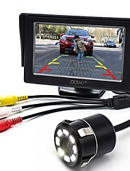 Недорогие -ziqiao 4,3-дюймовый монитор и 8-местный ccd hd автомобиль камера заднего вида