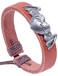 cheap -Women's Bracelet Basic Gift Leather Alloy Circle Heart Jewelry For Date Festival