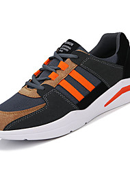 cheap -Men's Shoes Rubber Spring Fall Comfort Athletic Shoes Walking Shoes Booties/Ankle Boots Ribbon Tie for Outdoor Black/White Green Orange