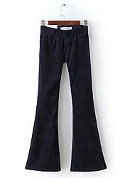 economico -Hippie Costume Per adulto Pantalone Rosso scuro Nero Azzurro ciano Marrone Vintage Cosplay Peluche Pantalone lungo Lolita Slip