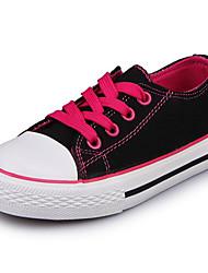 preiswerte -Mädchen Schuhe Leinwand Winter Herbst Komfort Sneakers für Normal Weiß Schwarz Purpur Fuchsia Rot