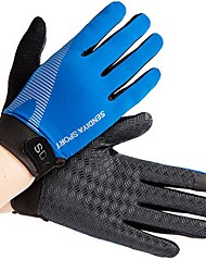 cheap -Sports Gloves Bike Gloves / Cycling Gloves Wearable Breathable Full-finger Gloves Bonded Cloth synthetic fibre Mountain Cycling Road
