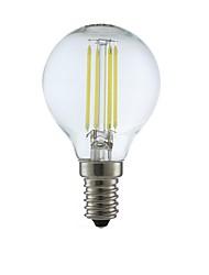 preiswerte -1pc 3.5W 350lm E14 LED Glühlampen P45 4 LEDs COB LED-Lampen Warmes Weiß 2700K AC 220-240V