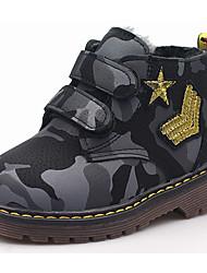 Dívčí Obuv PU Zima Podzim Obuv military styl Boty Kotníčkové pro Ležérní Černá Armádní zelená Fialová