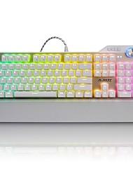 Недорогие -AJAZZ AJAZZ-AK35 RGB Проводное RGB подсветка Черные выключатели Синие переключатели 107 Механическая клавиатура Влагозащищенная Подсветка