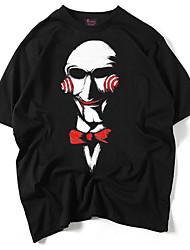 economico -T-shirt Per uomo Punk & Gotico Con stampe Rotonda - Cotone